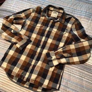 Vans Button Front Shirt Plaid Buffalo Check L/S